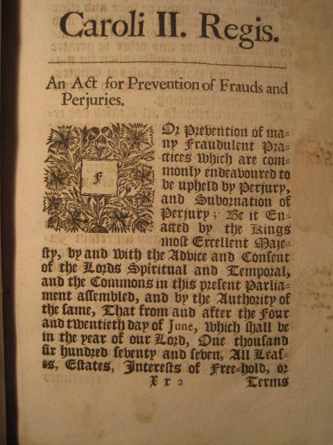 statute of frauds 1677 pdf